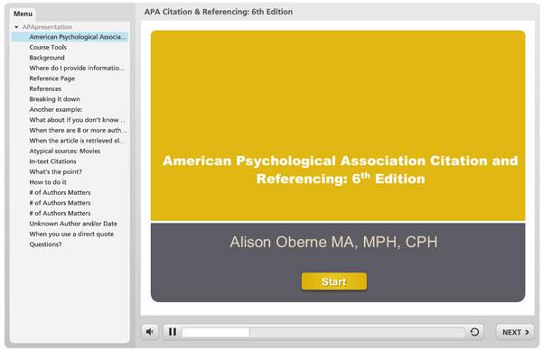 apa citation and referencing