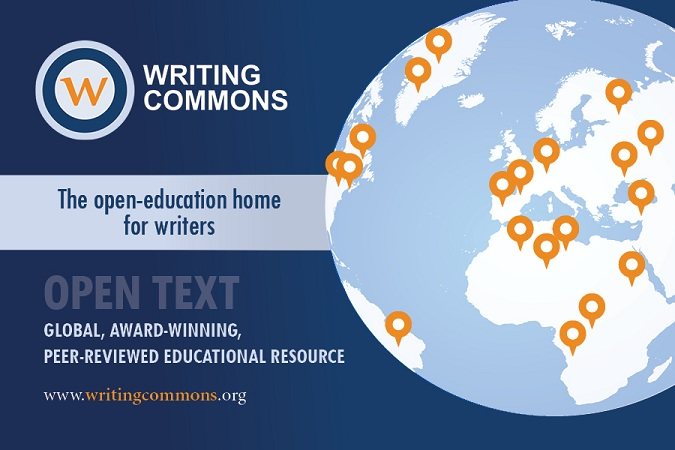 brochure for writing commons that says it's an open education resource